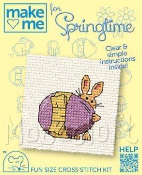 Mouseloft Easter Egg Make Me For Springtime cross stitch kit